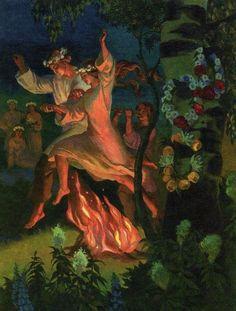 Noc Kupaly Slavic Celebration Summer Solstice