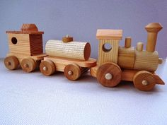 Wooden Toy Train Set Heirloom Quality Classic by OzarkRusticWood