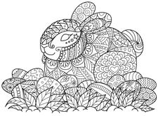 Easter Coloring Sheets for Adults Best Of Cute Bunny Sitting Ester Eggs Stock Vector You are in the right place about Easter Eggs pattern Here we offer you the most beautiful pictures about the Easter Free Easter Coloring Pages, Easter Bunny Colouring, Easter Egg Coloring Pages, Spring Coloring Pages, Adult Coloring Book Pages, Christmas Coloring Pages, Coloring Books, Colouring Sheets For Adults, Illustration