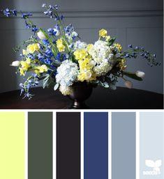 flora hues // via design seeds Colour Pallette, Color Palate, Colour Schemes, Color Trends, Color Combos, Design Seeds, Room Colors, House Colors, Color Concept