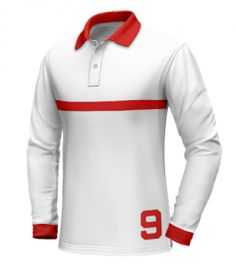 Long Sleeve Polo, Long Sleeve Shirts, Custom Polo Shirts, Polo Shirt White, Men's Wardrobe, Shirt Designs, Men's Fashion, Collections, Red