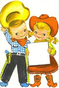 Paula's Palace of AltAred Art: COWBOY TAG IMAGES, TUTORIAL AND CRAFT ALONG...YEEHAW!, Cowboy & Cowgirl