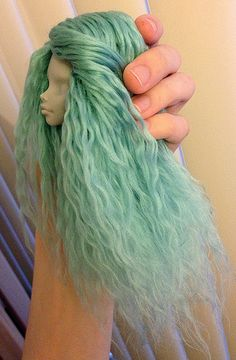 """Gorgeous example of reroot with yarn. Monster High - """"vegan mohair"""""""
