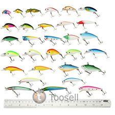 Lot 30 Kinds of Fishing Lures Crankbait Minnow Poper Bass Baits Hooks Tackle US
