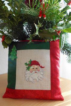 Kissen LKE Dahlbeck ~Weihnachtsmann~Fremme~Leinen V + H~Advent~Weihnachten ~ in Bastel- & Künstlerbedarf, Handarbeit, Sticken & Kreuzsticken | eBay!
