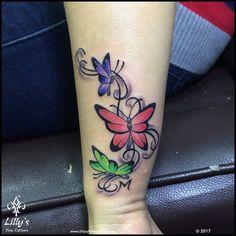 Lilly's Fine Tattoos | Gallery Name Tattoos, Cool Tattoos, Shiva Tattoo, Tattoo Designs Wrist, Colour Tattoo, Tattoo Stencils, Creative Tattoos, Tattoos Gallery, Tattoo Studio