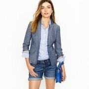 Schoolboy blazer in chambray - $158.00