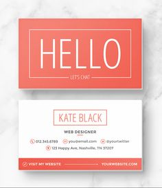 sample business cards templates