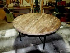 Industrial Upcycled Rustic Steel Cable Drum Design Coffee table | Other Furniture | Gumtree Australia Brisbane South West - Salisbury | 1041...