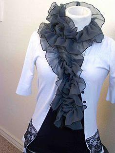 DIY pretty scarf