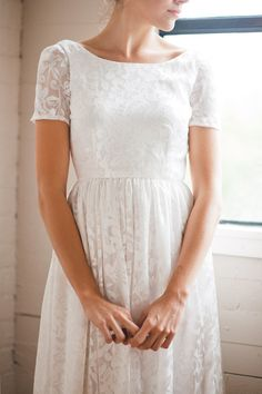 #wedding #dress #sleeves #bridal #gown #marriage #modest #lds #mormon #temple #lace #vintage