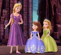 """Rapunzel & Flynn Rider's adventures continue with """"Tangled"""" animated series, which debuts on the Disney Channel in 2017 Princess Sofia The First, Little Princess, Disney Junior, Princesa Amber, Princes Sofia, Disney Princess Frozen, Disney Princesses, Disney Characters, Rapunzel And Flynn"""