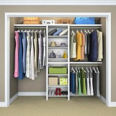 ClosetMaid Impressions 5 ft. - 10 ft. White Basic Closet System 53861 at The Home Depot - Mobile