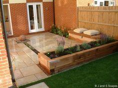 Back Garden Design, Patio Design, Rectangle Garden Design, Backyard Designs, Fence Design, Wood Design, House Design, Backyard Patio, Backyard Landscaping