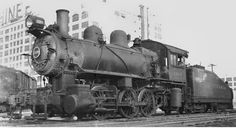 LIRR B class 0-6-0 steam engine #1109 and 70p82a tender from the Pennsylvania RR. Photo in LIC 1946.