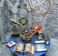 Miniature Wizard Zodiac Orrery Table   http://evminiatures.tripod.com