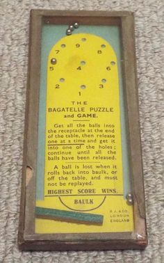 Vintage The Bagatelle Puzzle Game Dexterity Puzzle Game R Journet Traditional Games, Game R, Pinball, Puzzles, Puzzle Games, Amp, Models, Vintage, Ebay