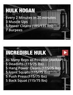 Incredible Hulk but don't put the bar down.