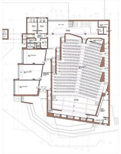 Gallery - Oratory and Auditorium Retamar School / - 18 Effective Pictures We Offer You About Cultural Architecture plan A quality picture can tell you many things. You can find the Auditorium Plan, Auditorium Architecture, Theatre Architecture, Auditorium Design, Romanesque Architecture, Cultural Architecture, Architecture Plan, Auditorium Seating, Studio Musical