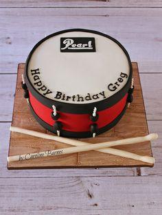 Pearl drum cake - Love Cake Create