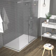 Clawfoot Tub Shower, Master Bathroom Shower, Bathroom Ideas, Shower Ideas, Bathroom Tubs, Bathroom Hacks, Shower Kits, Bathroom Trends, Downstairs Bathroom