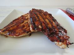 Grilled Chicken with a Southwest Apple Butter BBQ Sauce - A sticky sweet with a little kick of heat barbecue sauce.