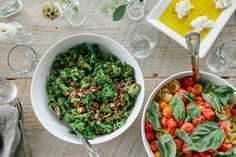 Summertime feast with a homemade bread recipe