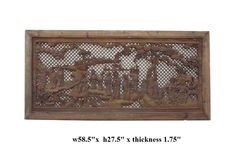 Chinese Opera Scenery Carved Wooden Wall Panel ss867