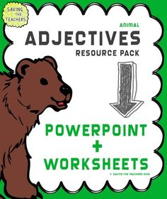 Adjectives from Saving The Teachers on TeachersNotebook.com (45 pages)