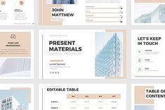 Present Materials PPT Template by Wipavee on @creativemarket Professional creative design Presentation Template Slides. Creative, modern, clean, minimalist, trendy, marketing Promotion Promo Posts for Business, Proposal, Marketing, Plan, Agency, Startups, Portfolio Design Layout.