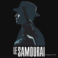 Le Samourai - Alain Delon le samouraï der eiskalte engel jean pierre meville french cinema T-Shirt Design