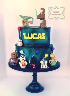 Star Wars 1st birthday cake  by Lori Mahoney (Lori's Custom Cakes)