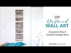 Driftwood Furniture, Painted Driftwood, Driftwood Projects, Driftwood Ideas, Driftwood Chandelier, Driftwood Wall Art, Summer Arts And Crafts, Beach House Decor, Coastal Decor