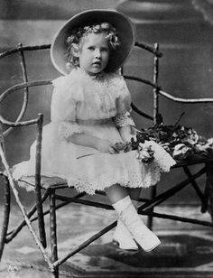 HRH Princess Katherine of Greece (1913-2007), the youngest daughter of King Konstantin and Queen Sofia of Greece, aged four