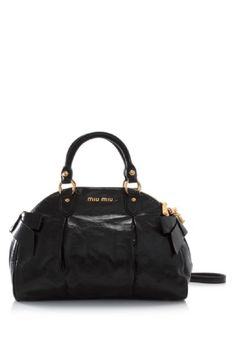 Miu Miu Vitello Lux Bauletto Color  Nero (Designer Color) Material   Calfskin Leather 4b08eaac1c5f4