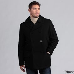 @Overstock - Stay warm and stylish with this handsome peacoat from Nautica. A notched collar and front-button closure finish this peacoat.   http://www.overstock.com/Clothing-Shoes/Nautica-Mens-Wool-Blend-Peacoat/6658301/product.html?CID=214117 $79.99