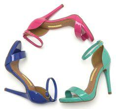 Sandália de salto alto – heels – cores – rosa – pink – azul - summer – Verão 2016 - Ref. 15-19001