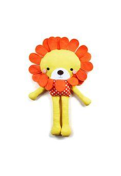 Lion Sewing Pattern PDF Fabric Softie Doll - Small Plush Lion Pattern. $10.00, via Etsy.