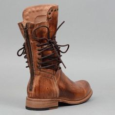 5d1838a176aa5 Back Zipper Vintage Boots Lace-Up Holiday Mid-calf Boots
