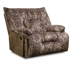Simmons Camouflage Microfiber Rocker Recliner By United
