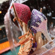 Latin Dance Shoes, Latin Dance Dresses, Dancing Shoes, Sparkly High Heels, Dance Decorations, Salsa Dress, Tango Shoes, Embellished Shoes, Crystal Shoes