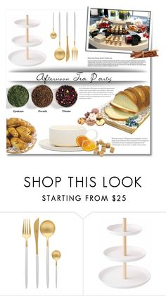 """""""Afternoon Tea Party"""" by anitadz ❤ liked on Polyvore featuring interior, interiors, interior design, home, home decor, interior decorating, Cutipol, Yamazaki, Jansen+Co and teaparty"""