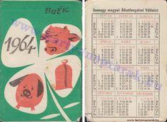 1964 - 1964_0150 - Régi magyar kártyanaptárak Pocket Calendar, Bullet Journal, Retro, Cards, Pockets, Pocket Diary, Maps, Retro Illustration, Playing Cards