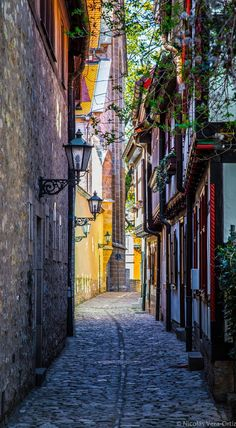 Photo by Nicolás Vera-Ortiz in, Erfurt, Germany Beautiful Passage in Erfurt… Places Around The World, Travel Around The World, Around The Worlds, Beautiful Streets, Beautiful Places, Cool Places To Visit, Places To Travel, Germany Travel, Germany Europe