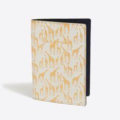 Printed leather passport case