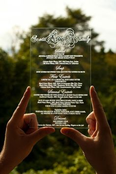 transparent menu