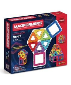 This Rainbow 30-Piece Magnetic Building Set is perfect! #zulilyfinds