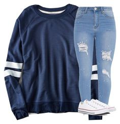 """""""Untitled #3415"""" by laurenatria11 ❤ liked on Polyvore featuring American Eagle Outfitters and Converse"""