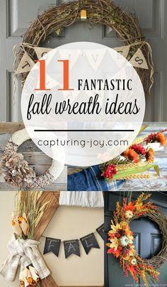 DIY Fall wreath idea