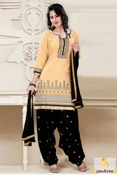 1150/- Rs, Make your own style saga with this exceptional #beige #black #casual punjabi #patiala salwar kameez. It provides a comfort fit so that you can carry it all day long with ease.   http://www.pavitraa.in/store/patiala-salwar-suit/ #patialasalwarsuits, #patialasalwarkameez, #partywearsalwarsuits, #wholesalecatalog